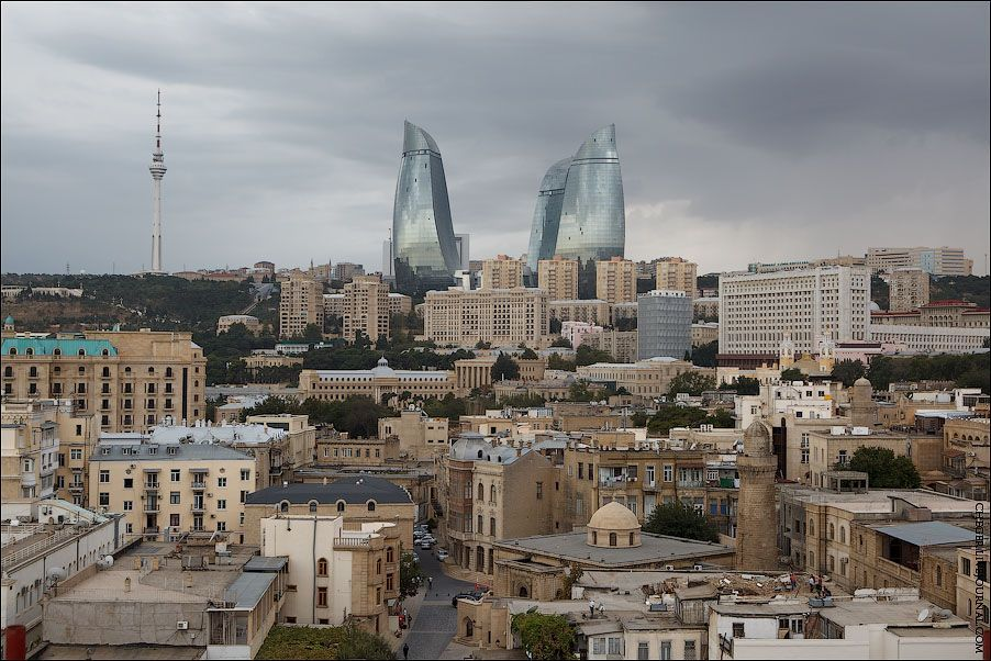 Baku city, hotel, Azerbaijan Tower