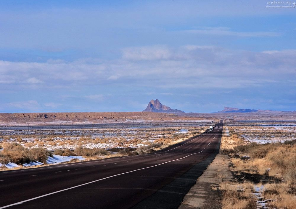New Mexico, the road, the US route