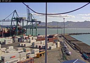 Web camera New Zealand, Lyttelton, Port