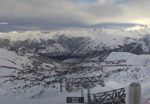 Web camera France, Alps, La Plagne, Ski resort