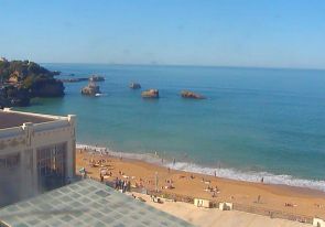 Web camera France, Biarritz, Beach
