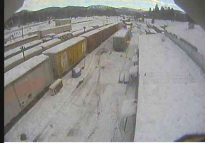 Web camera United States of America, California, Portola, Railway station