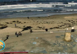 Web camera United States of America, California, San Diego, Beach