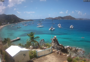 Web camera British Virgin Islands, Cooper Island, Panorama