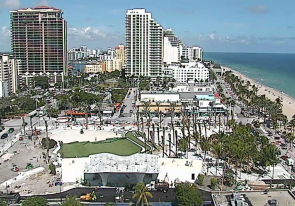 Web camera United States of America, Florida, Fort Lauderdale, Beach