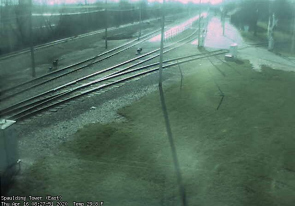 Web camera United States of America, Illinois, Railway station