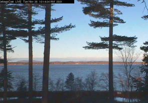 Web camera United States of America, Maine, Sebago, Lake