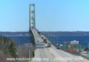 Web camera United States of America, Michigan, Mackinac Bridge, Bridge