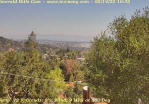 Web camera United States of America, California, Redwood, Panorama