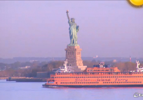 Web camera United States of America, New York, Statue of Liberty