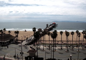 Web camera United States of America, California, Huntington Beach, Beach