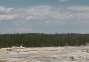 Web camera United States of America, Wyoming, Yellowstone National Park, Old Faithful Geyser