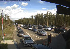 Web camera United States of America, Wyoming, Yellowstone National Park, West Entrance